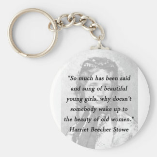 Llavero Belleza de mujeres mayores - Harriet Beecher Stowe