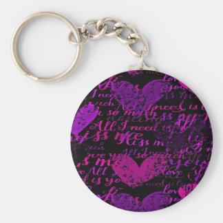 Llavero Béseme púrpura de Miss Me