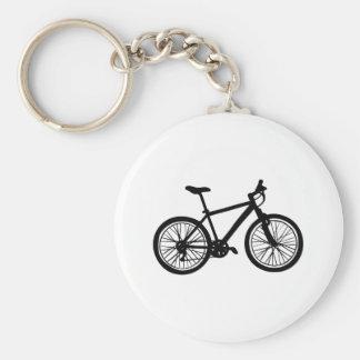 Llavero Bicicleta dibujada mano simple en blanco y negro