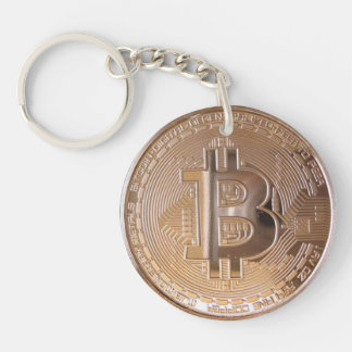Llavero Bitcoin metallic made ​​of copper. M1