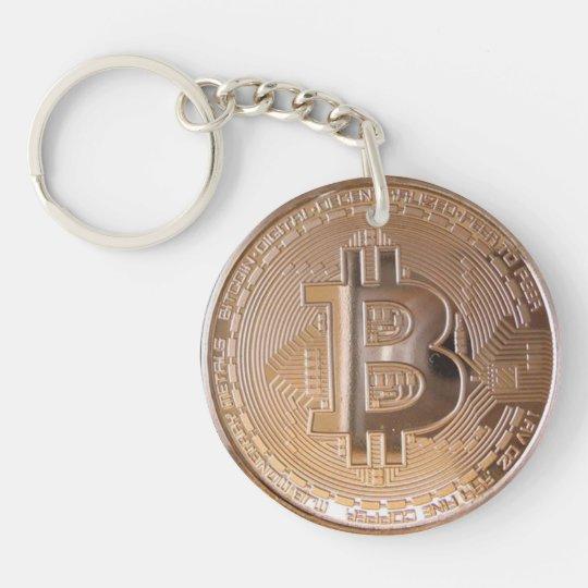 Llavero Bitcoin metallic made of copper. M1