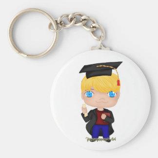 Llavero Blonde del muchacho de la graduación (b)