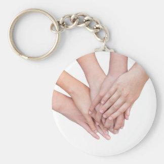 Llavero Brazos de las manos de los chicas en uno a