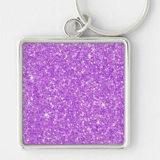 Llavero Brillo de lujo del diamante púrpura del brillo