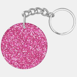 Llavero Brillo rosado chispeante