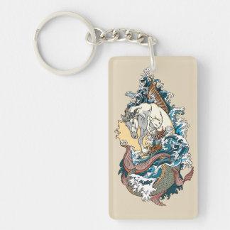 Llavero caballo de mar mitológico