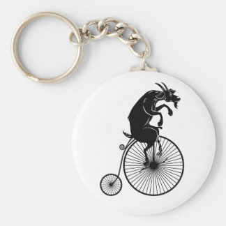 Llavero Cabra que monta una bici del comino del penique