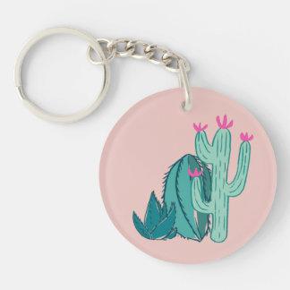 Llavero Cactus lindo del rosa y del verde