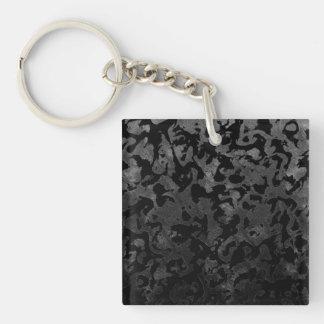 Llavero Camuflaje gris negro y oscuro de Camo moderno -