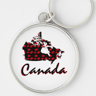Llavero canadiense de Canadá del arce rojo de la