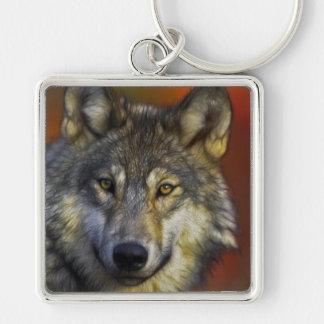 Llavero Cara de una foto del lobo