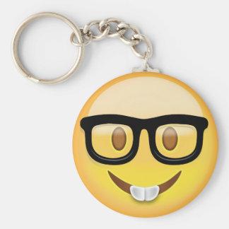 Llavero Cara Emoji del empollón