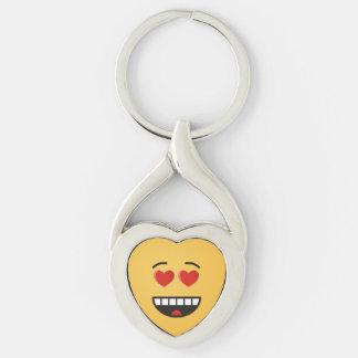 Llavero Cara sonriente con los ojos en forma de corazón