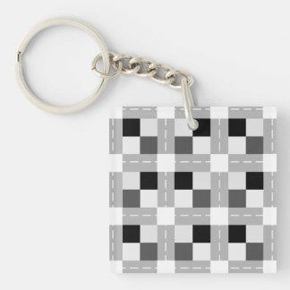 Llavero Carta/llavero (de doble cara) del cuadrado