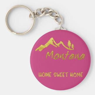 Llavero casero dulce de la montaña de Montana del