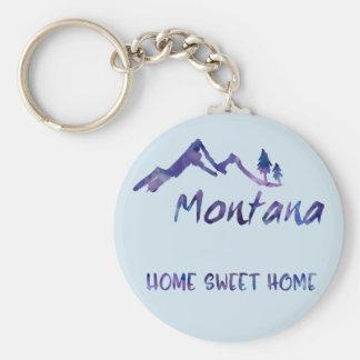 Llavero casero dulce de Montana del hogar azul de