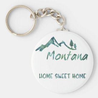 Llavero casero dulce de Montana del hogar verde de