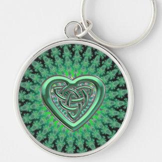 Llavero céltico verde irlandés del nudo del