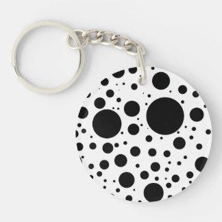 Llavero Centenares de puntos y de círculos negros en