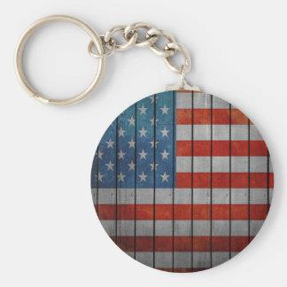 Llavero Cerca pintada de la bandera americana