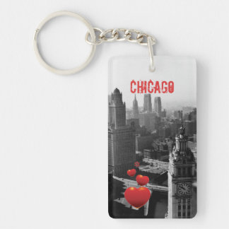 Llavero Chicago Skyline1930 desde arriba de la fotografía