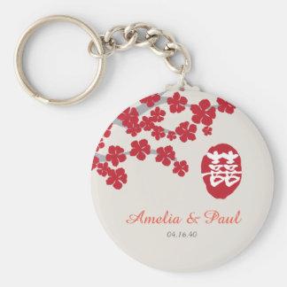Llavero chino del boda de la felicidad doble