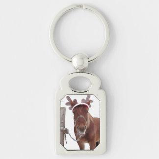 Llavero Ciervos del caballo - caballo del navidad -