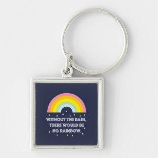 Llavero Cita inspirada y de motivación del arco iris
