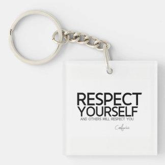 Llavero CITAS: Confucio: Respecto usted mismo