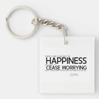 Llavero CITAS: Epictetus: Felicidad: deje de preocuparse