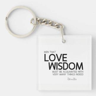 Llavero CITAS: Heraclitus: Sabiduría del amor