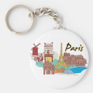 Llavero Ciudad famosa de París, Francia