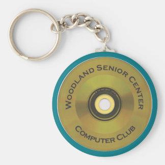 Llavero Club del ordenador del centro mayor del arbolado