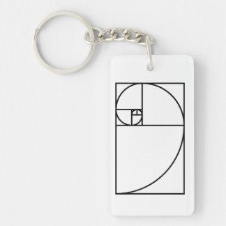 Llavero Coeficiente de oro de Fibonacci - arte matemático