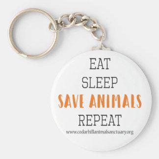 Llavero Coma los animales de la reserva del sueño