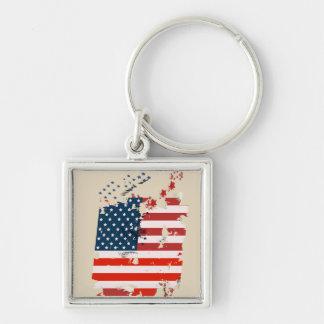 Llavero Como un americano. Bandera del grunge de los