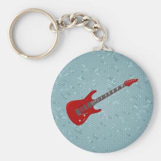 Llavero con el ilustracion de la guitarra