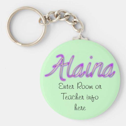 Llavero conocido de la etiqueta de Alaina
