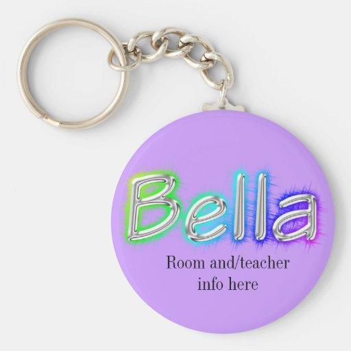 Llavero conocido de la etiqueta de Bella