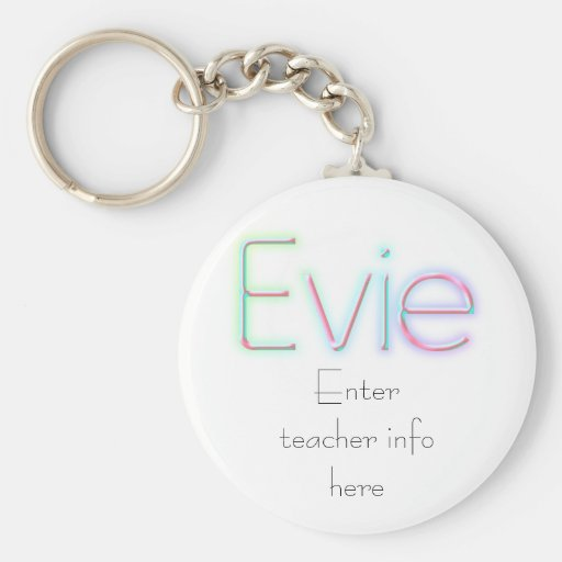 Llavero conocido de la etiqueta de Evie