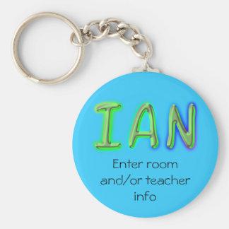 Llavero conocido de la etiqueta de Ian