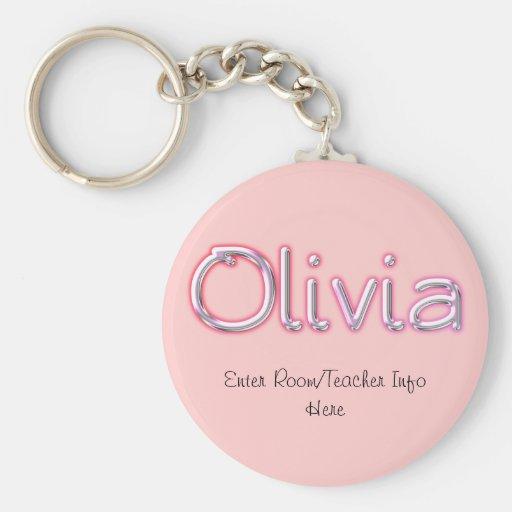Llavero conocido de la etiqueta de Olivia