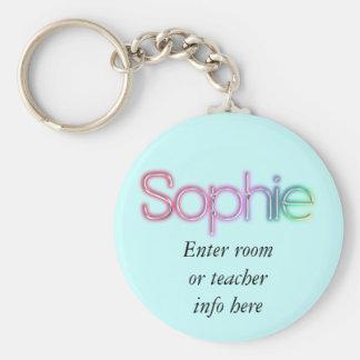Llavero conocido de la etiqueta de Sophie