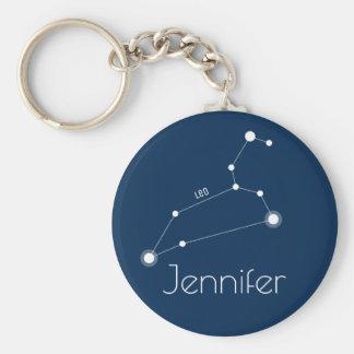 Llavero Constelación personalizada del zodiaco de Leo