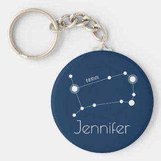 Llavero Constelación personalizada del zodiaco de los