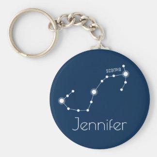 Llavero Constelación personalizada del zodiaco del