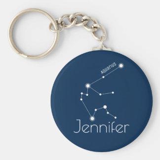 Llavero Constelación personalizada del zodiaco del acuario