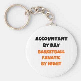 Llavero Contable del fanático del baloncesto del día por