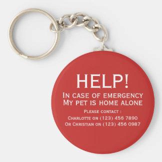 Llavero Contacto solo de la emergencia del hogar del