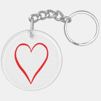 Llavero Corazón pintado en fondo blanco